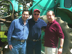 Charles Sternbach with business partners on location in Texas
